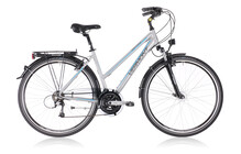 Vermont Brentwood velo trekking Femme Lady, silver gris